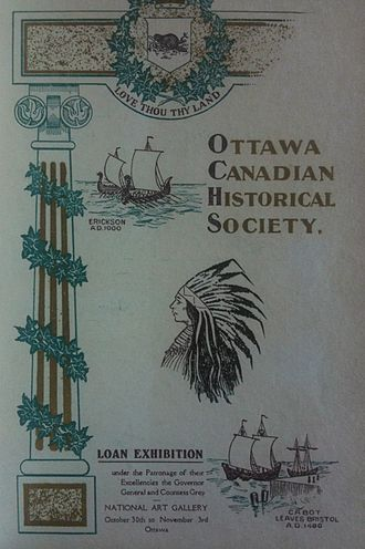 Bytown Museum - 1906 Loan Exhibition held at the National Art Gallery, Ottawa (Cover of exhibit catalogue; published in 1907)