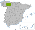 Location on the Spain map