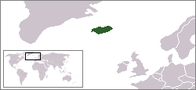 A map showing the location of Iceland