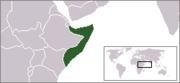 Localización de Somalia