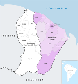 Arrondissement of Cayenne Arrondissement in French Guiana, France