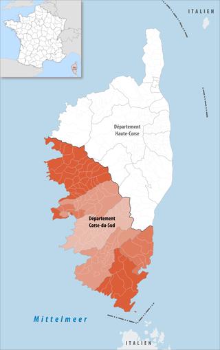 Lage des Corse-du-Sud