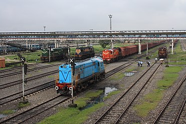 Locomotives at New Jalpaiguri junction yard