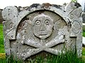 Logie Old Kirk-17th century gravestone - geograph.org.uk - 795241.jpg