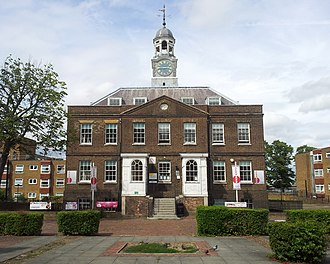 Woolwich Dockyard - Clock House (Dockyard offices, 1783-4), the earliest surviving building on the Woolwich Dockyard site.