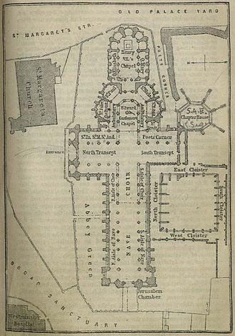 Westminster Abbey - Layout plan dated 1894