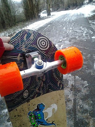 Longboarding - Large grippy wheels and sealed boards often made from weather resistant material like bamboo make longboarding possible in any season, anywhere unlike typical skateboards.