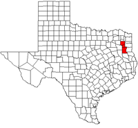 Map of Texas highlighting the Longview metropolitan area.