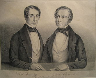 Henry Wellesley, 1st Baron Cowley - Lord Cowley (left) and Lord Clarendon