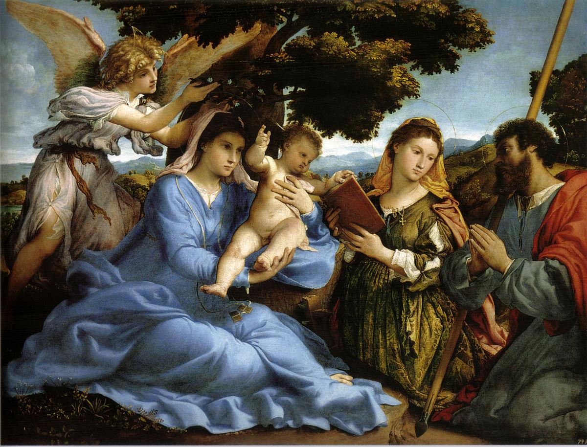 Madonna col bambino tra i santi caterina d 39 alessandria e for Abbellimento del lotto d angolo
