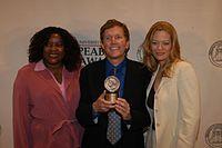 Loretta Devine, David E. Kelley, and Jeri Ryan, May 2003 (8).jpg