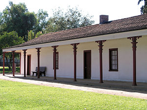 Rancho Los Encinos - The adobe house completed in 1850, built by Vicente de la Osa at Rancho Los Encinos.