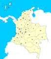 Los departamentos de Colombia - Numerados.png