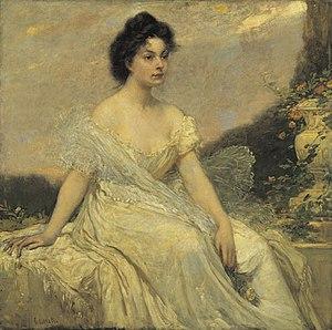 Károly Lotz - Image: Lotz Kornélia Lotz in White c. 1900