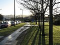 Low winter sun on South Gyle Crescent - geograph.org.uk - 1075836.jpg