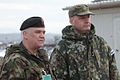 Lt Col Mick Dolan with his Finnish Counterpart Observe the exercise with the Kosovo Police (4425040286).jpg