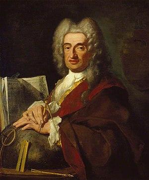 Luca Carlevarijs - Portrait (1724) by Bartolomeo Nazari