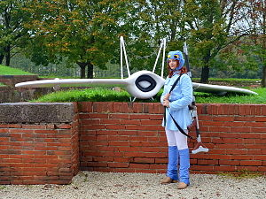 Nausicaä (character) - A cosplayer donning on the character's costume for Lucca Comics & Games 2013.