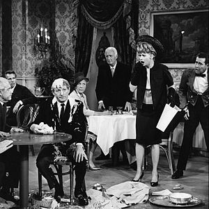The Lucy Show - Lucy gets into the soup with Danny Kaye while trying to meet him, 1964.