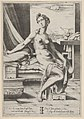 Lucretia naked and seated before a window, a dagger in her right hand and holding drapery in her left MET DP832552.jpg