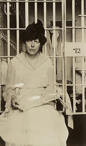 Lucy Burns - Lucy Burns in Occoquan Workhouse, Washington, D.C.