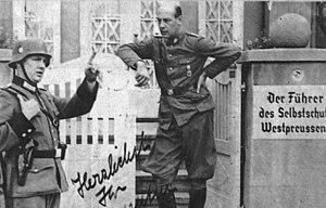 Ludolf von Alvensleben - Alvensleben as Führer of Volksdeutscher Selbstschutz in Bydgoszcz, 1939