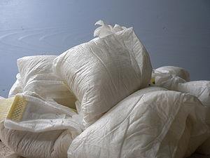 English: diaper pile