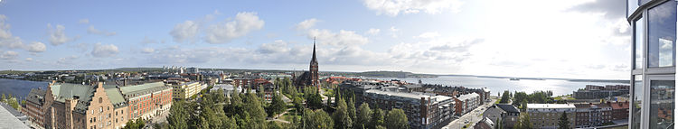panorama of Luleå