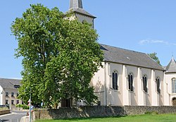 Tuntange church and its remarkable platanus