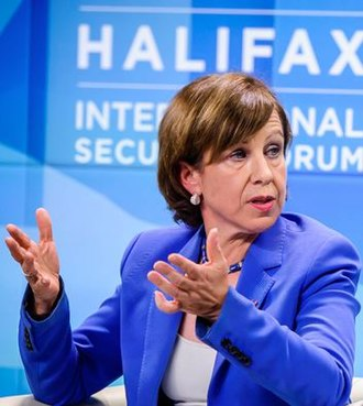 Lyse Doucet - Doucet speaking at the Halifax International Security Forum in 2014