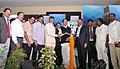 M. Venkaiah Naidu lighting the lamp at the Andhra University Annual Alumni Meet, 2016, in Visakhapatnam, Andhra Pradesh.jpg