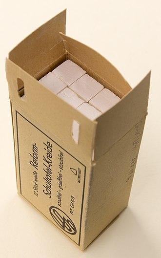Blackboard - Cardboard calc sticks, made in GDR, currently at the MEK