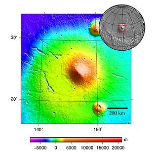 Elysium Mons - Image: MOLA elysium mons
