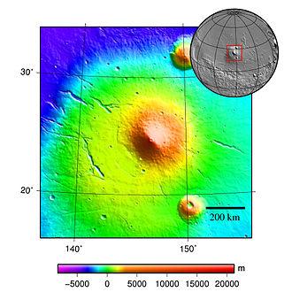 Elysium (volcanic province) - Image: MOLA elysium mons