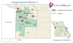 United States House of Representatives elections in Missouri, 2008 - Image: MO 5th Congressional District