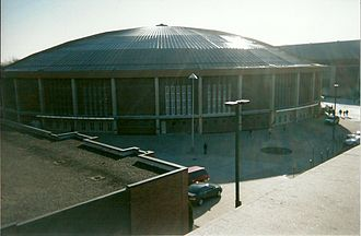 Purdue Boilermakers men's basketball - Mackey Arena, located on the north side of Purdue University's campus in West Lafayette, Indiana