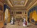 Madame Adelaide d'Orleans receiving queen Victoria and Prince Albert in her room at the Chateau d'Eu.jpg