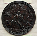 Maestro di orfeo, orfeo che incanta gli animali in tondo, 1500 ca..JPG