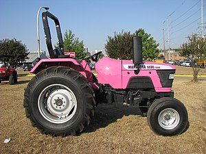 Pink Mahindra tractor 6030 Turbo at Mississipp...