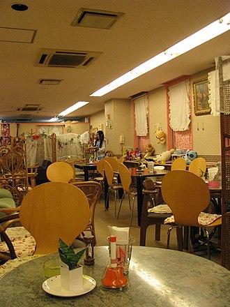 Maid café - Interior of a maid café in Osaka