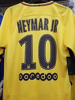Maillot extérieur PSG 2017-2018 Neymar JR.jpg