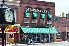 Main Street Building With Multiple Awnings Chesterton Indiana