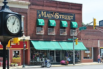 Awning - Main Street building with multiple awnings, Chesterton, Indiana