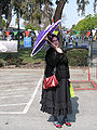 Maker Faire 2008 woman with umbrella.jpg