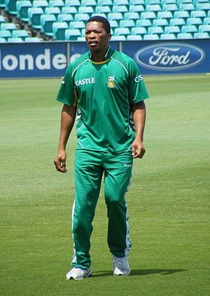 Makhaya Ntini - Makhaya Ntini during a training session at the Sydney Cricket Ground in January 2009