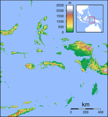 TTE is located in Maluku