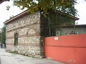 Manastır Mosque, Istanbul - The north side with the brickwork.