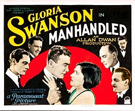 Manhandled lobby card