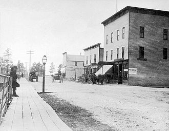Manistique, Michigan - Cedar Street, 1880s