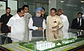 Manmohan Singh inspecting the model of the Indian Institute of Corporate Affairs Campus, during the inaugural ceremony of the Indian Institute of Corporate Affairs Campus, at Manesar.jpg